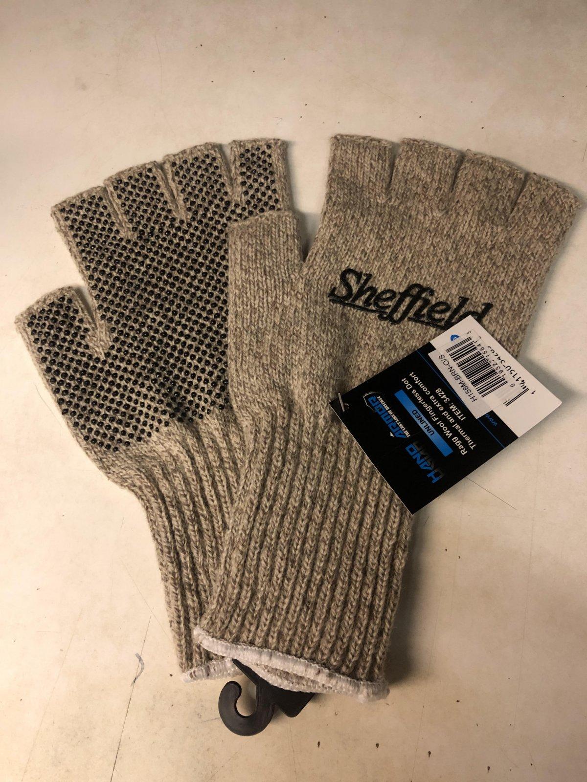 Sheffield Ragg Wool Fingerless Gloves Size L