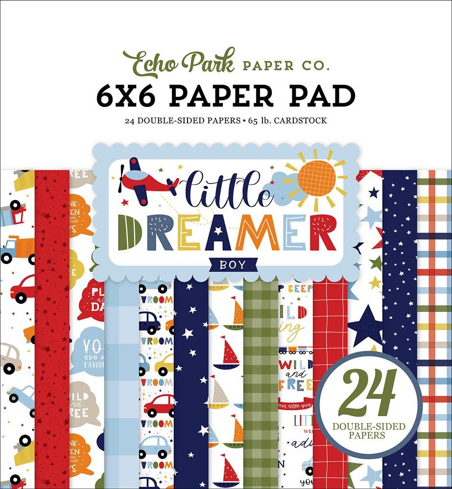Echo Park Little Dreamer Boy Paper Pad 6x6