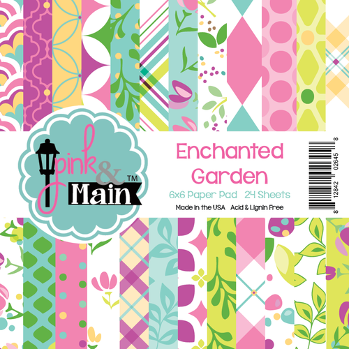 Pink & Main Enchanted Garden Paper Pad 6 x 6