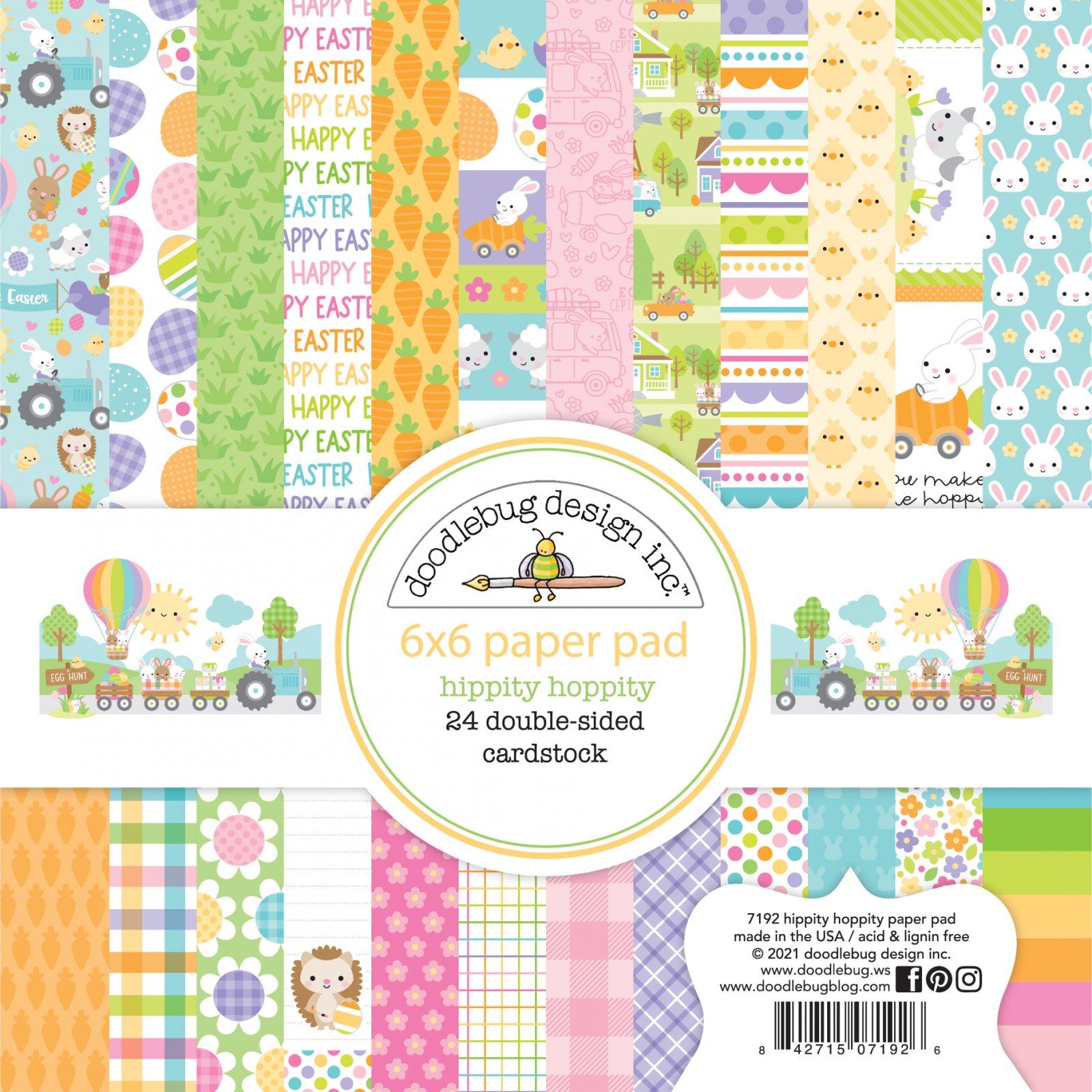 Doodlebug Hippity Hoppity 6 x 6 Paper Pad