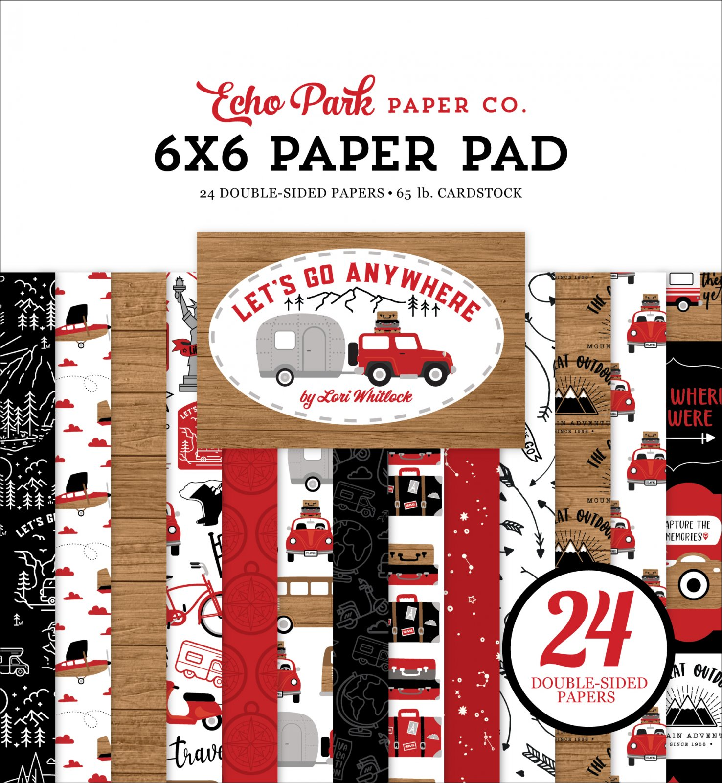 Echo Park Let's Go Anywhere Paper Pad 6x6