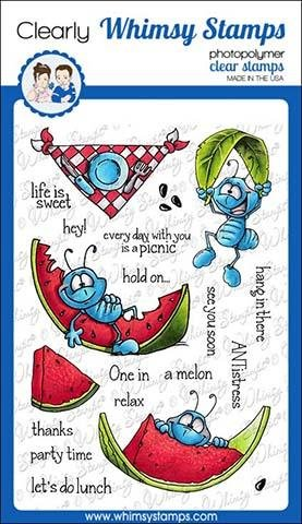 Whimsy Stamps Clear Stamps- Ants at a Picnic