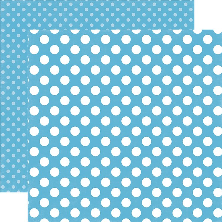Echo Park Dots & Stripes Double-Sided Cardstock 12x12- Poolside