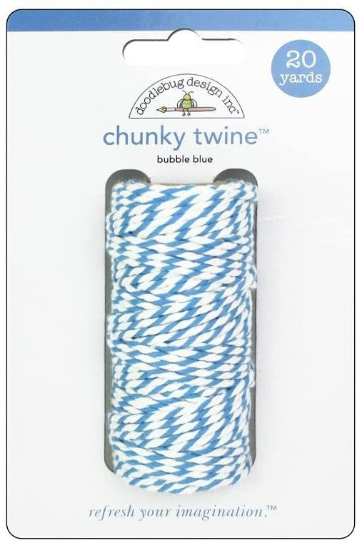 Doodlebug Chunky Twine Bubble Blue