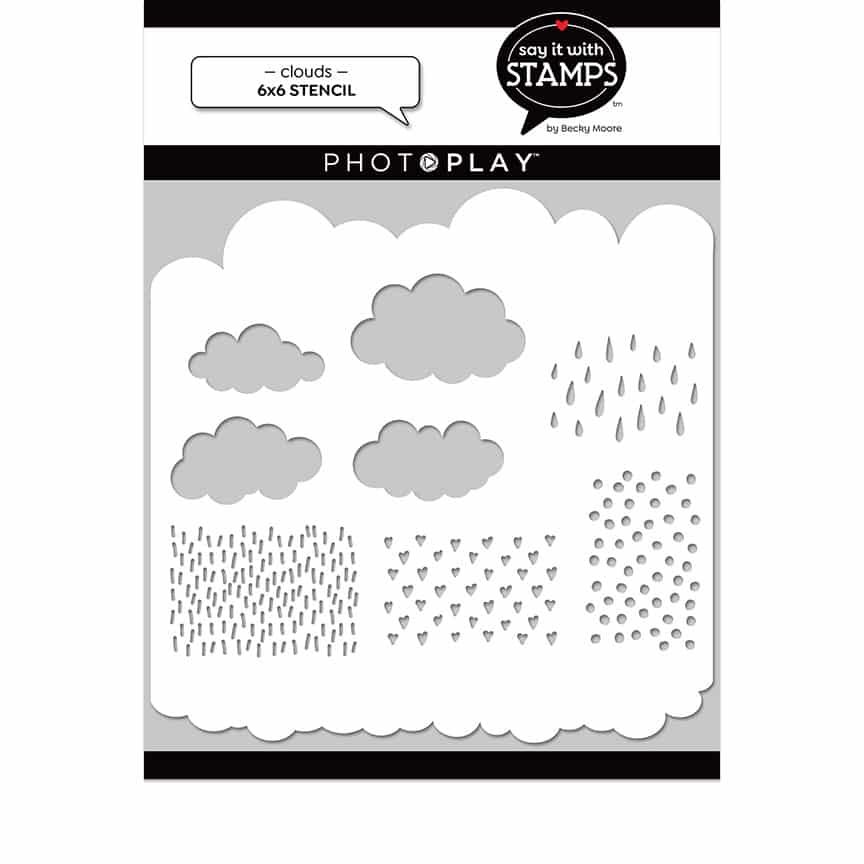 Say It With Stamps Stencil- Clouds