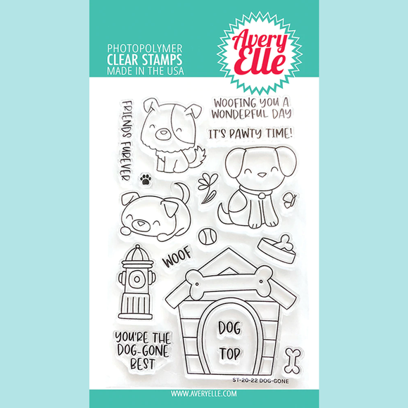 Avery Elle Clear Stamps- Dog-Gone
