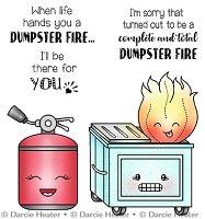 Darcie POL465 Dumpster Fire Clear Stamp