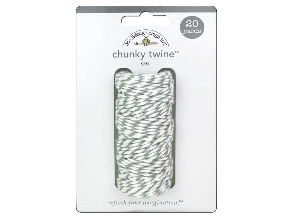 Doodlebug Chunky Twine Gray