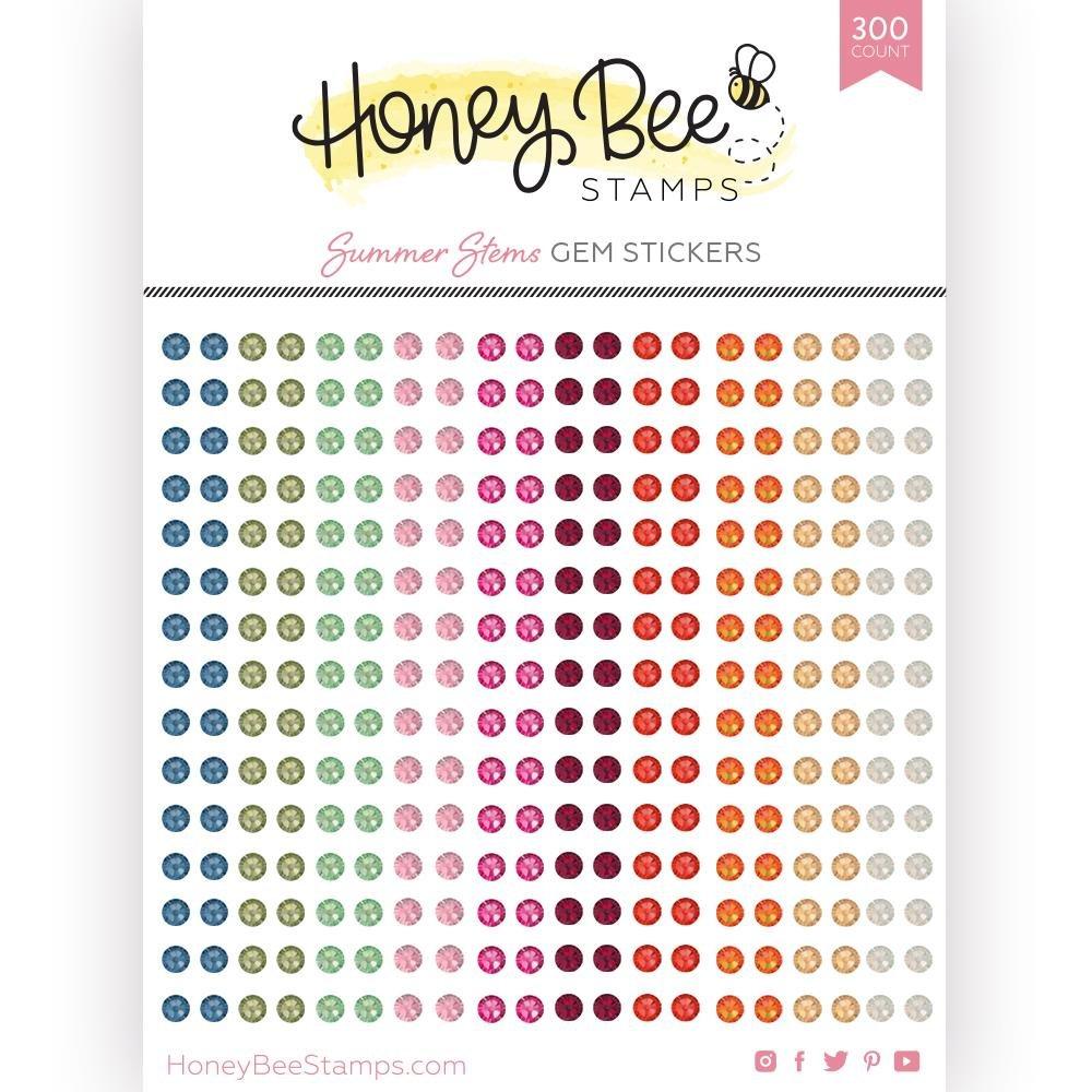 Honey Bee Summer Stem Gem Stickers