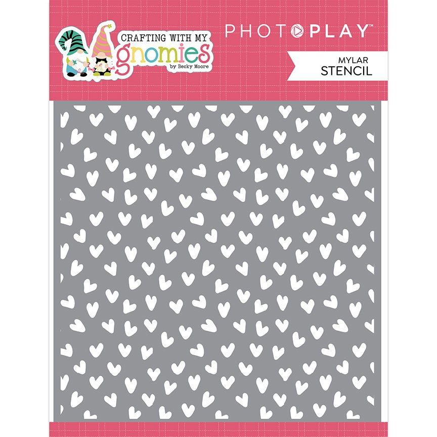 PhotoPlay Crafting With My Gnomies Stencil- Hearts