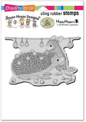 Stampendous House Mouse Cling Rubber Stamps- Holiday Hedgehog
