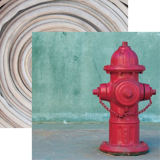 Reminisce Firefighter Double-Sided Cardstock 12x12- Hydrant