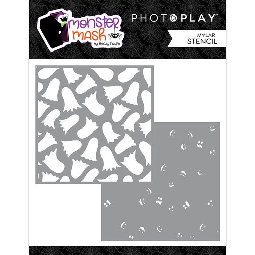 PhotoPlay Monster Mash Stencils 6X6 2/Pkg