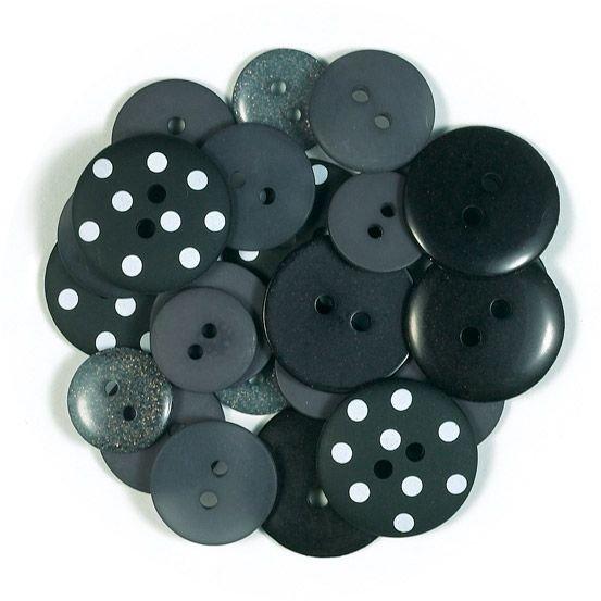 Doodlebug Buttons Assortment- Beetle Black