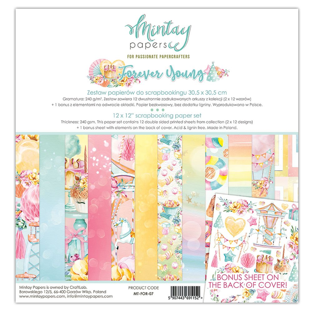 Mintay Papers Forever Young 12 x 12 Paper