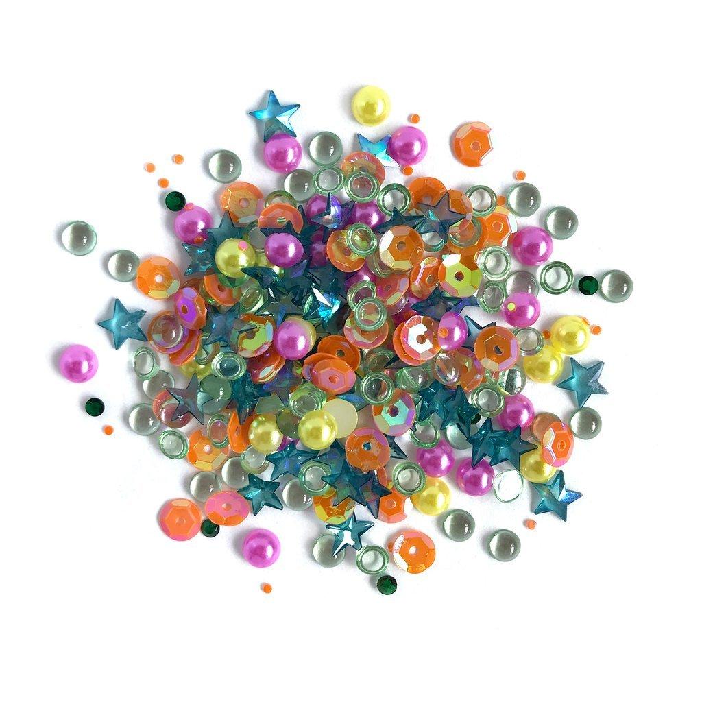 Buttons Galore Sparkletz- Rainbow