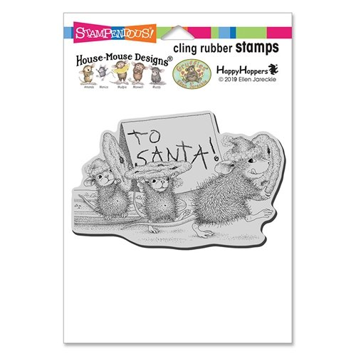 Stampendous House Mouse Cling Rubber Stamps- To Santa