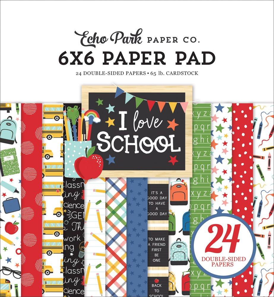 Echo Park I Love School Paper Pad 6x6