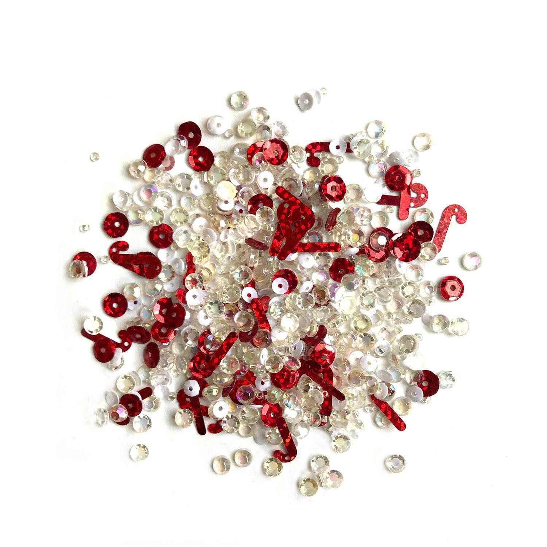 Buttons Galore Sparkletz- Peppermint Stix