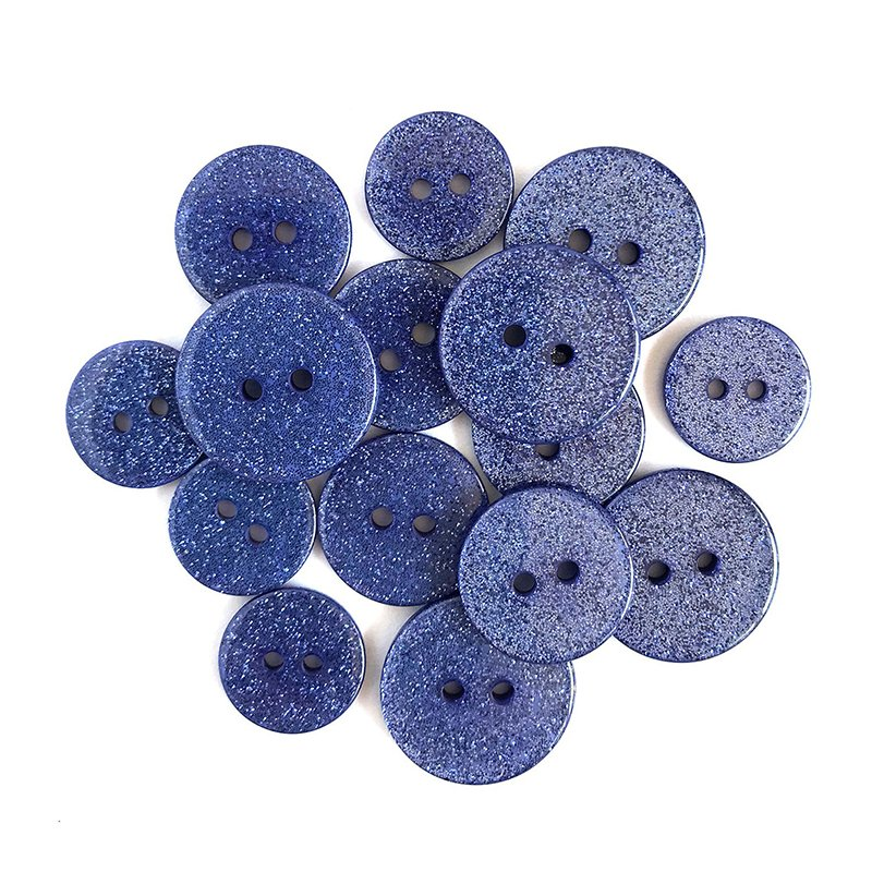 Buttons Galore Sugar Shoppe Glitter Buttons- French Lavender