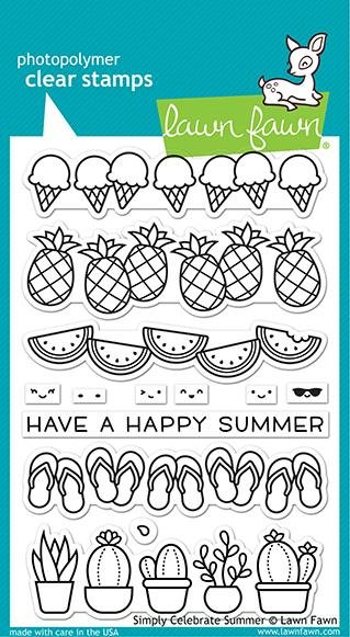 Lawn Fawn Clear Stamps- Simply Celebrate Summer