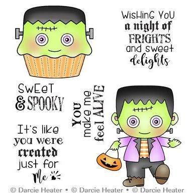 Darcie POL446 Sweet & Spooky Clear Stamp