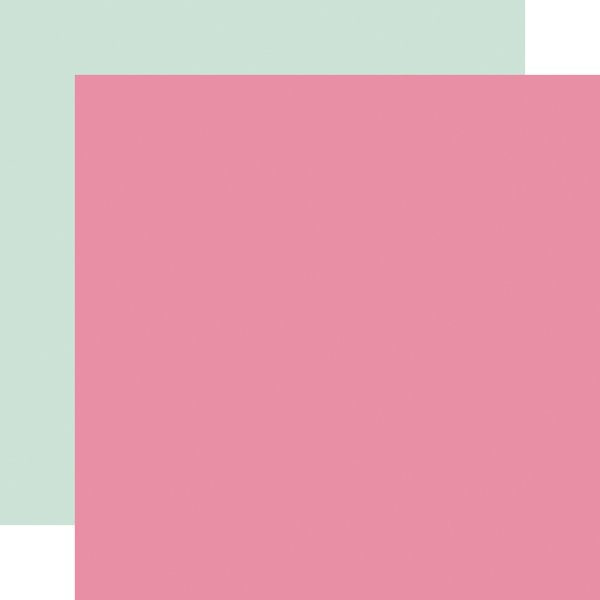 Echo Park It's Your Birthday Girl Double-Sided Cardstock 12x12-  Dk Pink / Mint