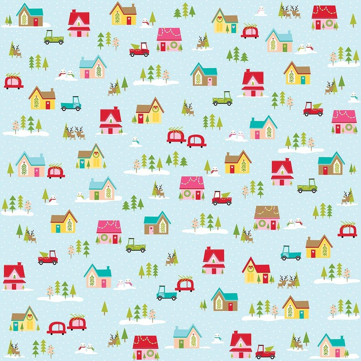 Bella Blvd Fa La La Double-Sided Cardstock 12x12- Christmas Village