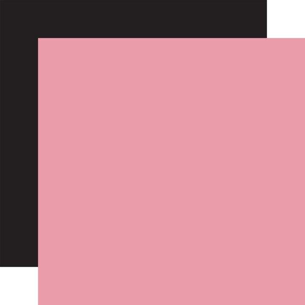 Echo Park Alice in Wonderland Double-Sided Cardstock- Lt. Pink / Black