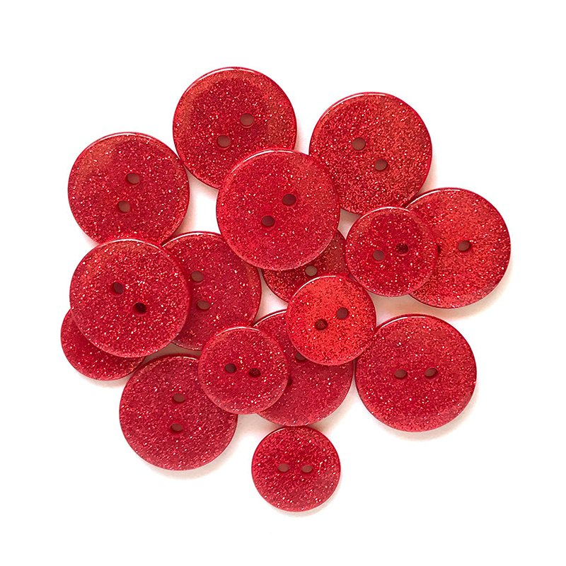 Ruby Slippers Glitter Buttons Sugar Shoppe