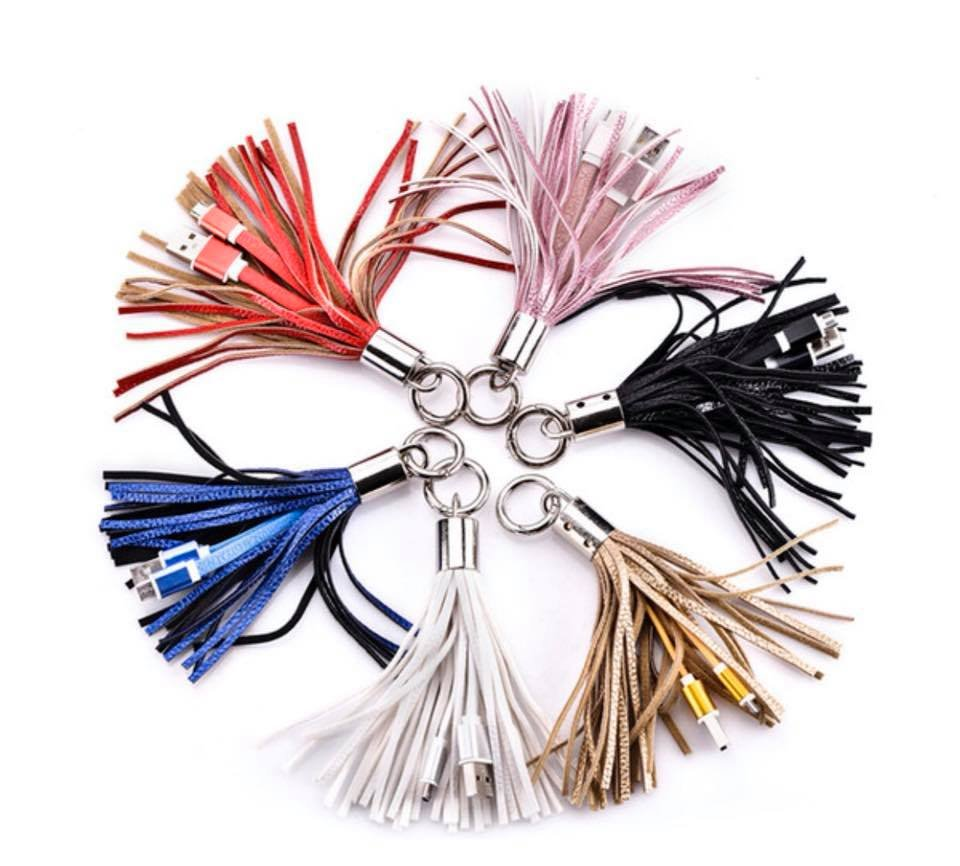 iPhone Charger Tassel Keychains (5 colors)