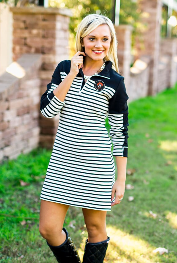 Game Day Couture Striped Dress