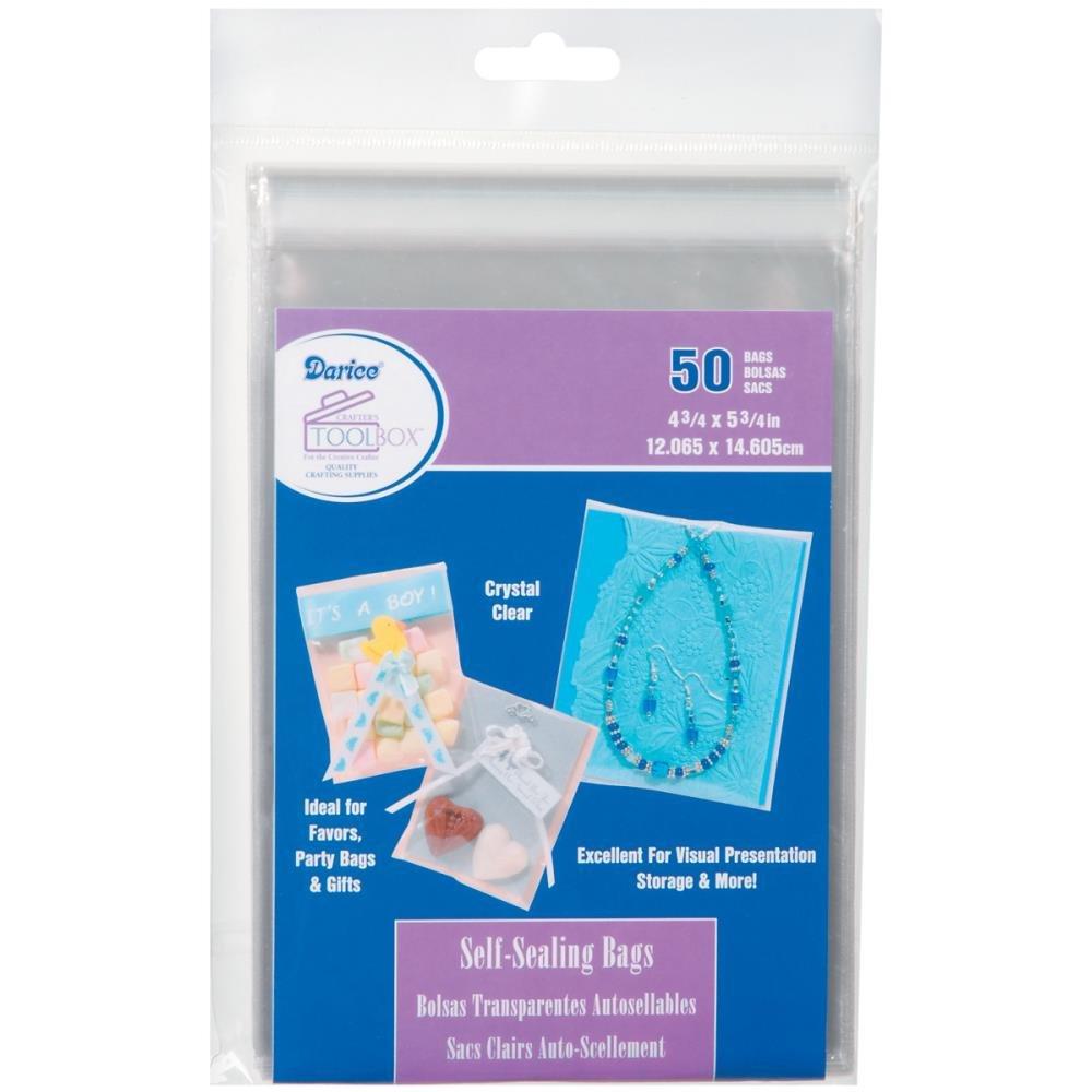 Darice Self Sealing Bags 4.75 x 5.75 50pc