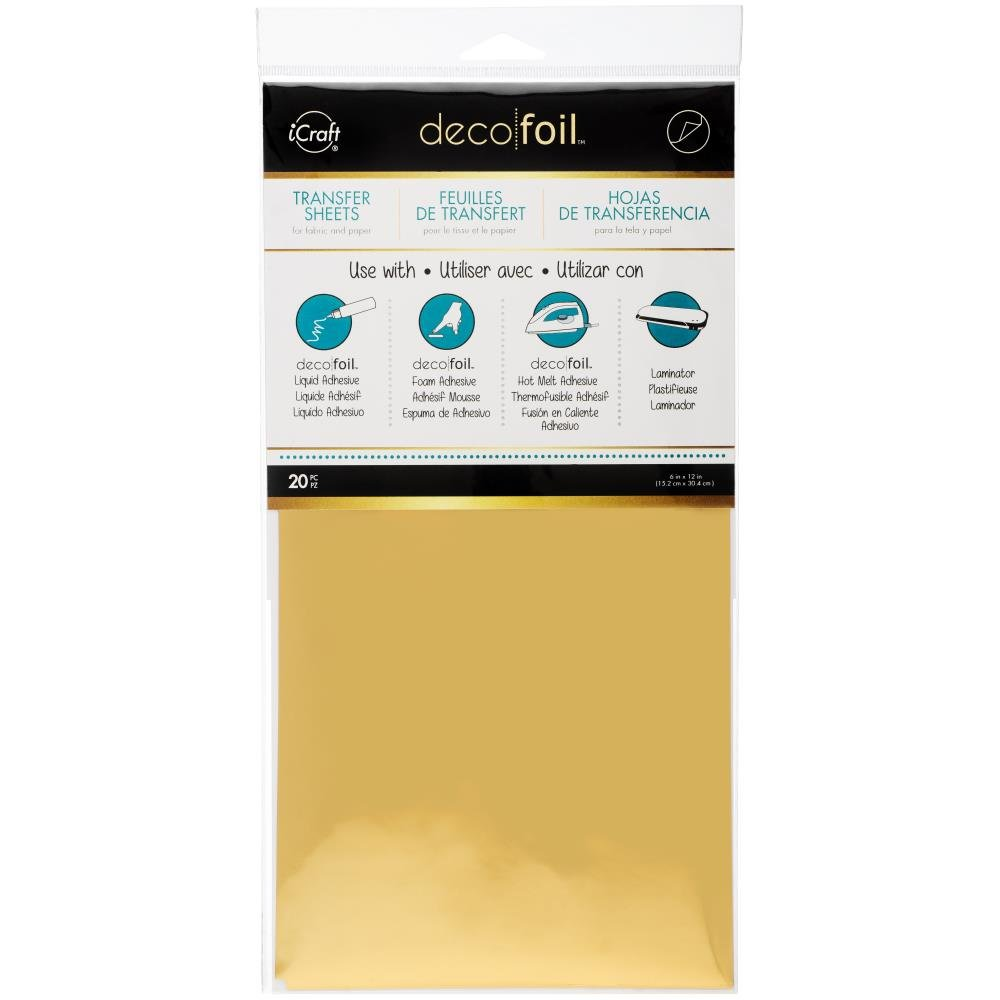 Gold Deco Foil Transfer Sheets
