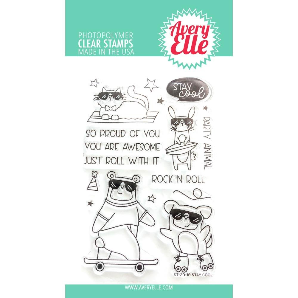 Avery Elle Stay Cool Stamp Set