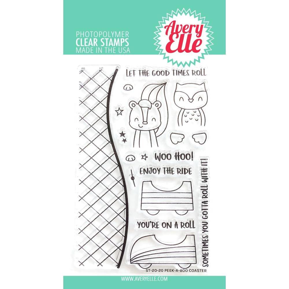 Avery Elle Peek-A-Boo Coaster Stamp Set