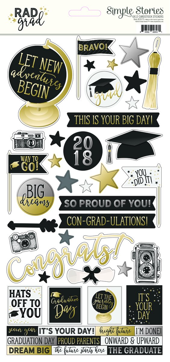 Rad Grad 6 x 12 Card stock Stickers