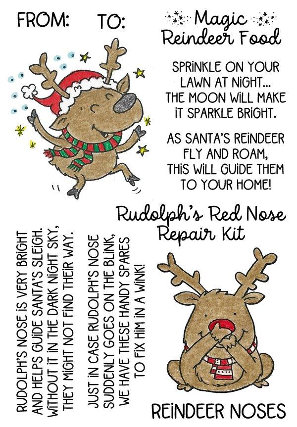 Inky Antics Rudolph & Reindeer