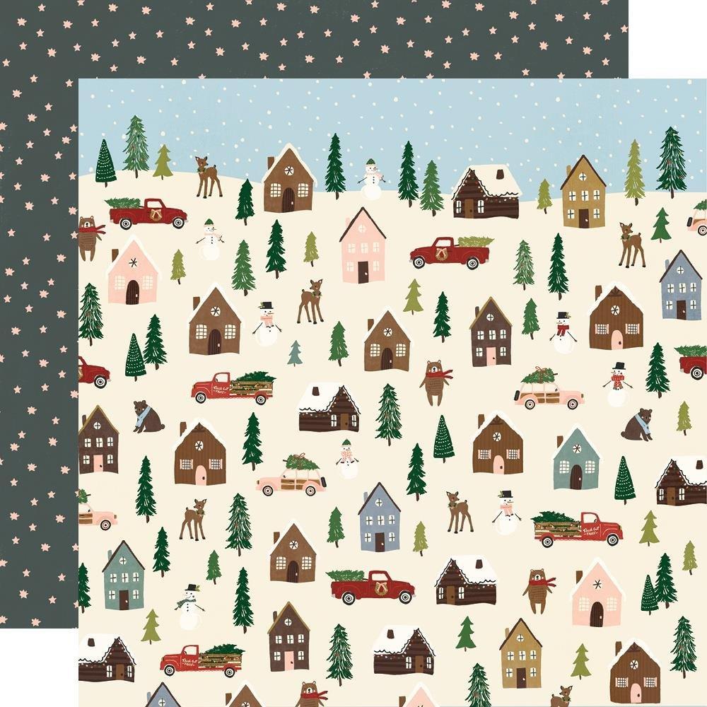 Simple Stories Winter Cottage Winter Wonderland 12x12