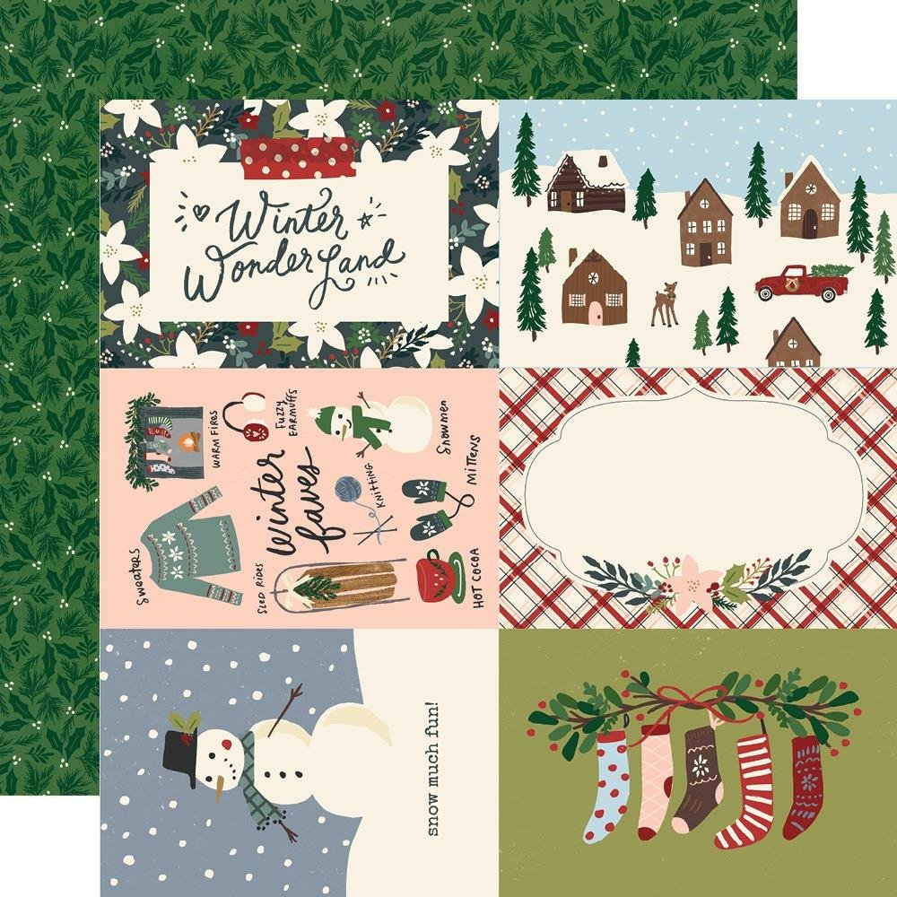 Simple Stories Winter Cottage 4x6 Elements