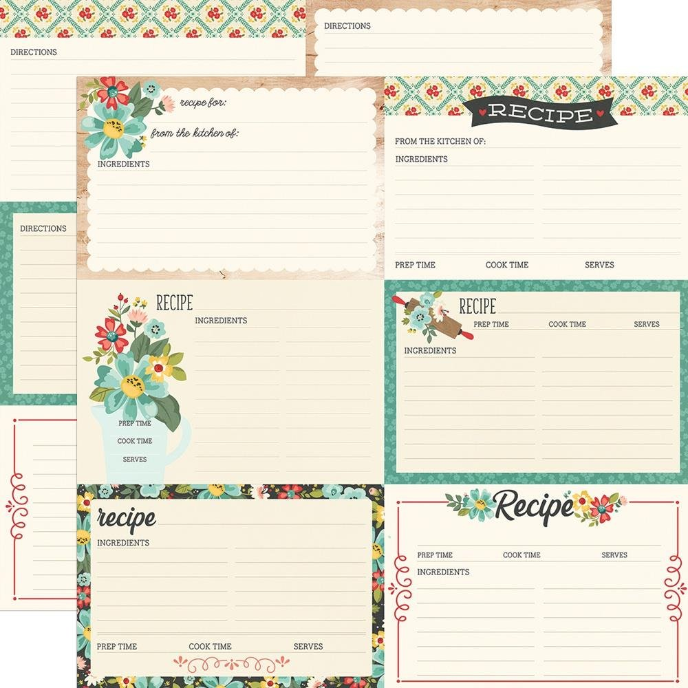 Simple Stories Apron Strings Recipe Cards