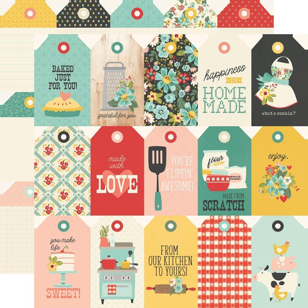 Simple Stories Apron Strings 12x12 Tags