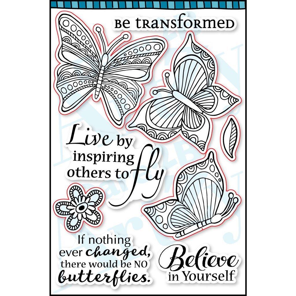 Dare 2B Artzy Butterfly Inspiration Stamp Set