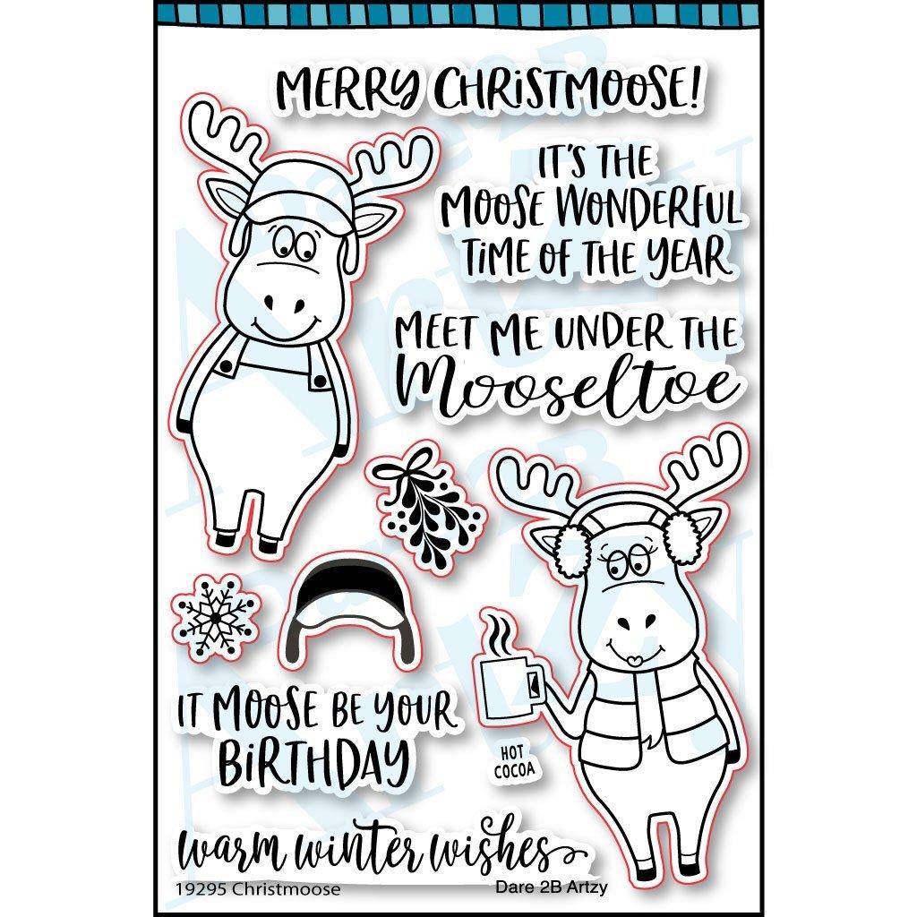 Dare 2B Artzy Christmoose Stamp Set