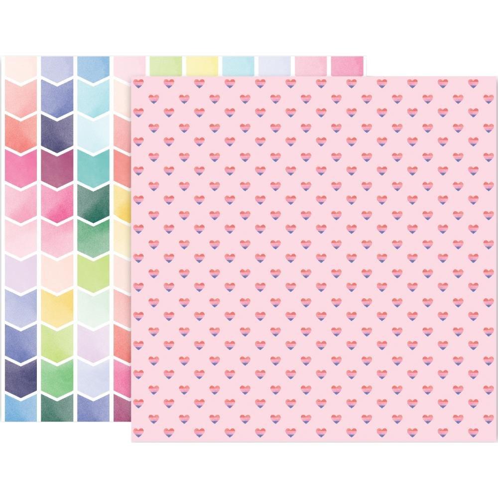 Pink Paislee Bloom Street 24 12x12 Paper