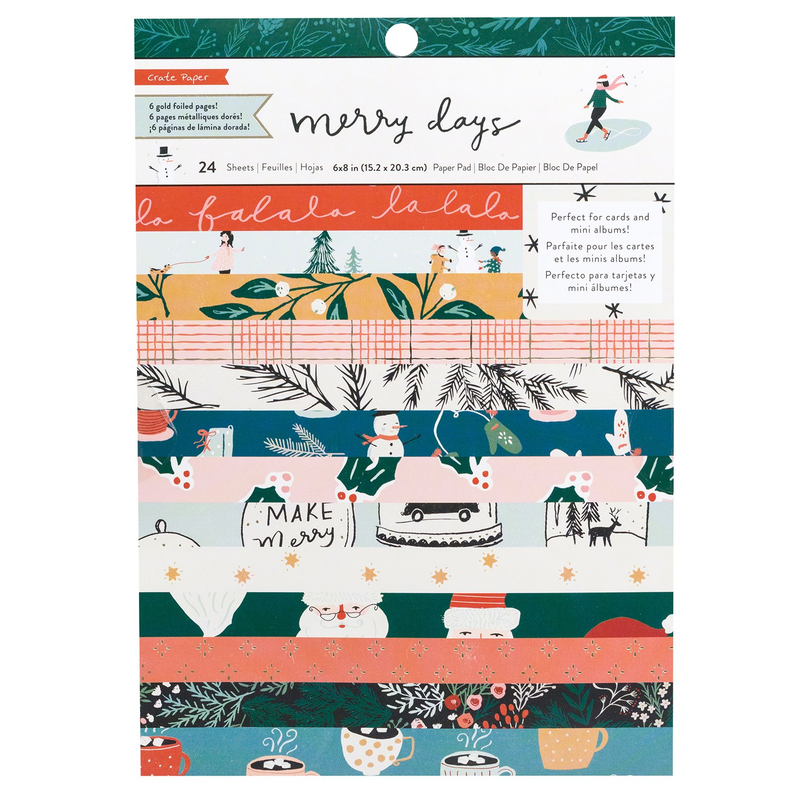 Crate Paper Merry Days 6 x 8 pad