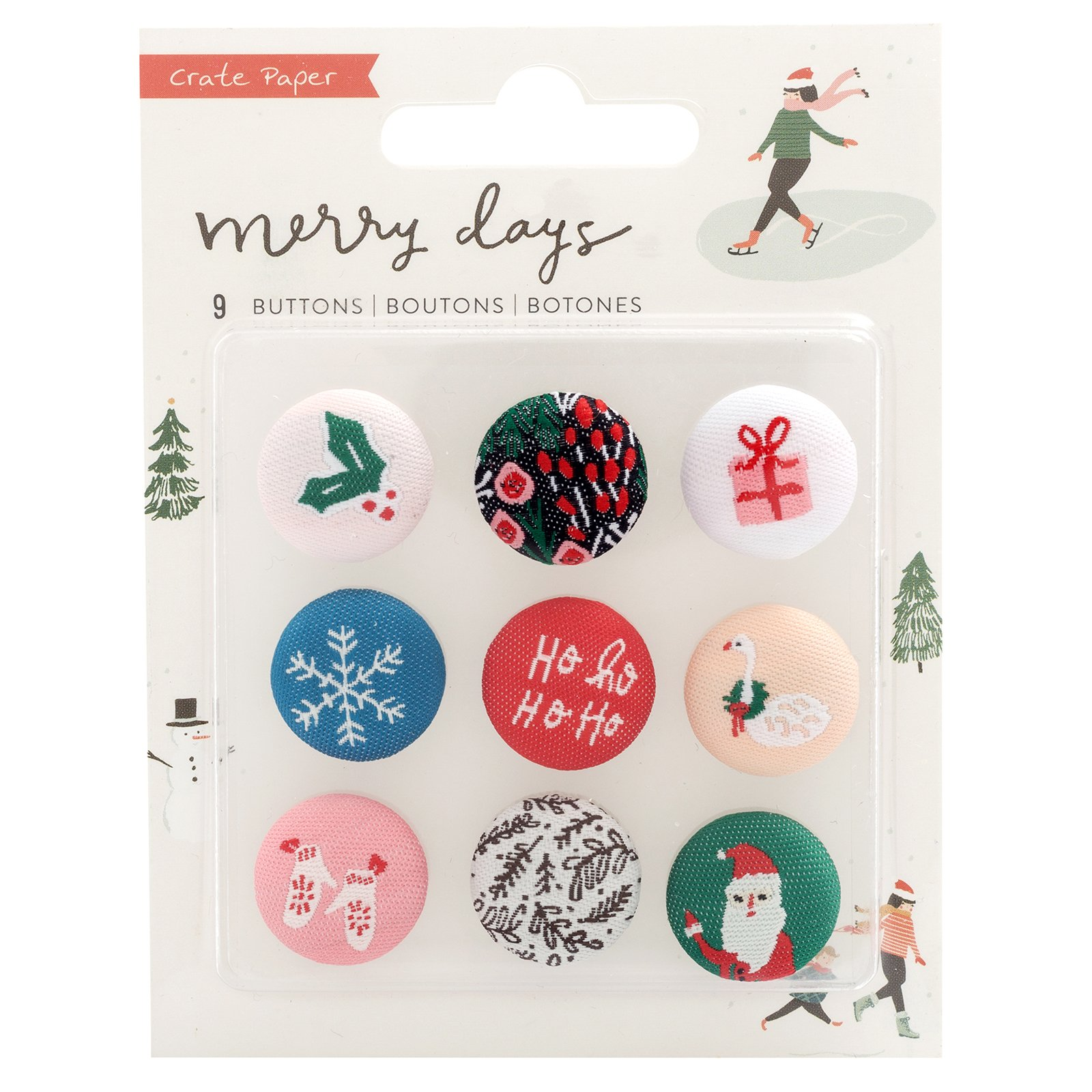 Crate Paper Merry Days Buttons