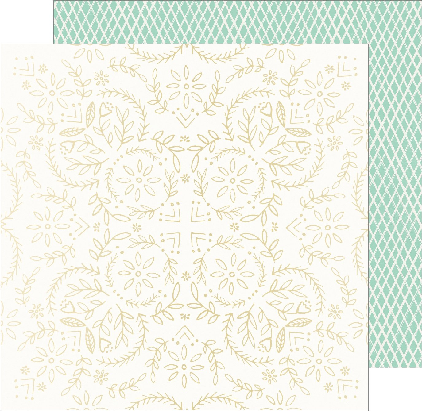 American Crafts Sunny days Foil on cardstock 12x12