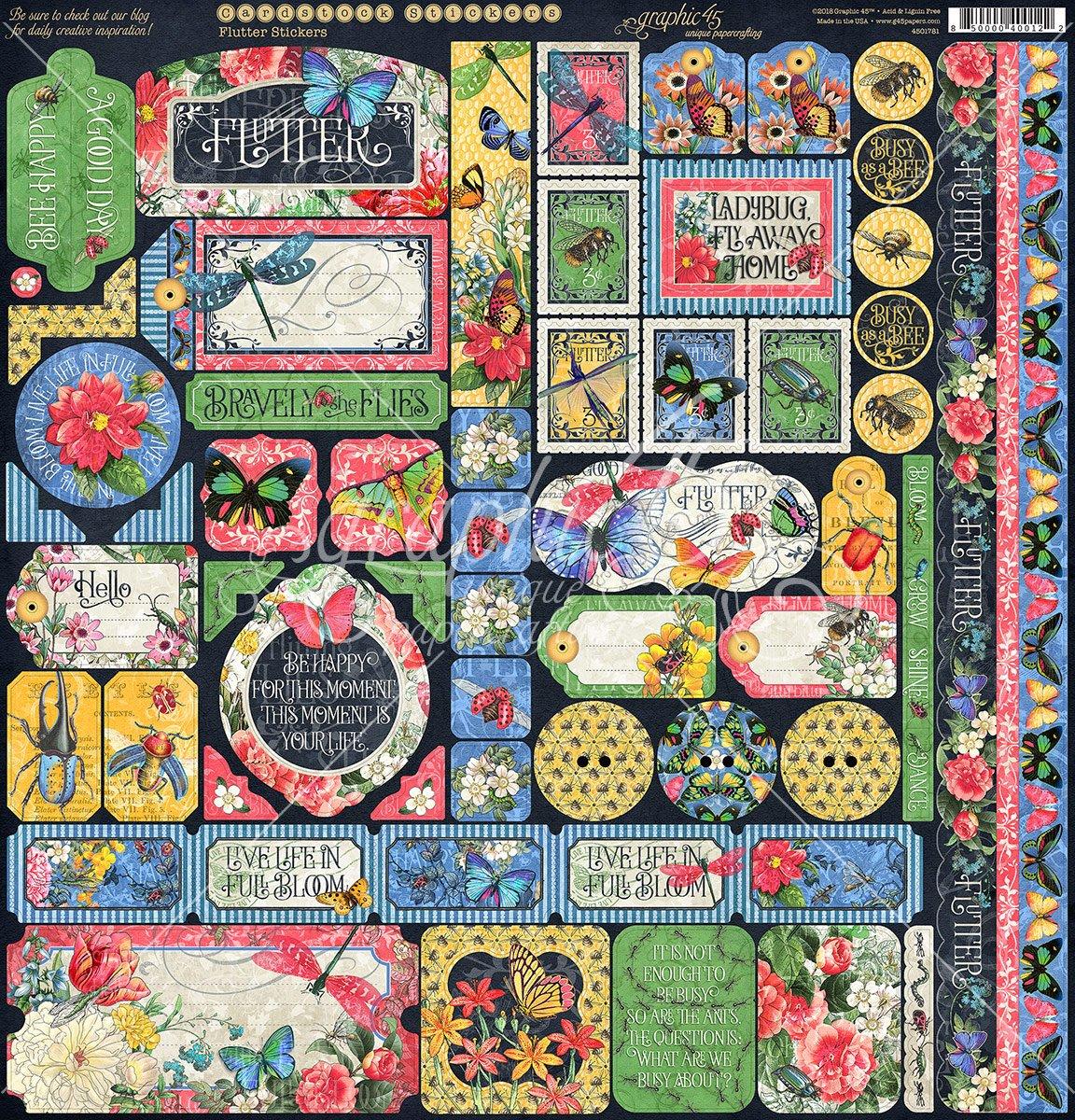 Flutter Cardstock Sticker