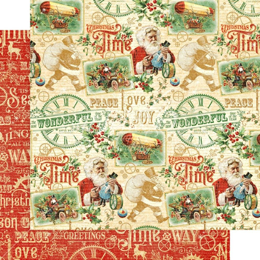 Graphic 45 Christmas Time Collection Pack and Patterns /& Solids Pad 12x12 Decorative Papers 2 Items